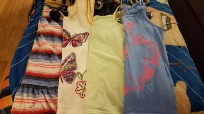 Lot of size 7 and 7/8 girl tank tops