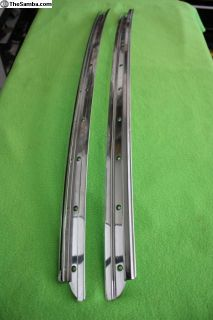 3 Fold Ragtop / Sunroof Long Rails, POLISHED