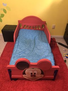 Mickey Mouse bed with mattress