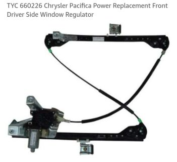 TYC 66026 Chrysler Pacifica power replacement front driver side window regulator