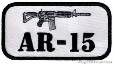 Buy AR15 ASSAULT RIFLE PATCH - ARMED BIKER EMBLEM iron-on GUN RIGHTS embroidered NEW motorcycle in Austin, Texas, United States