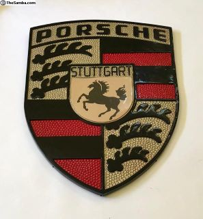 Vintage Porsche Stuttgart Showroom Dealership Sign