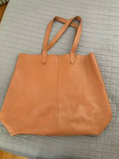 Large Genuine Leather Tote.