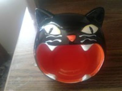 Cat head candy jar