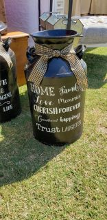 ANTIQUE MILK CAN FOR YOUR COUNTRY THEME