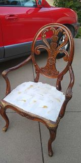 Beautiful carved wood project chair