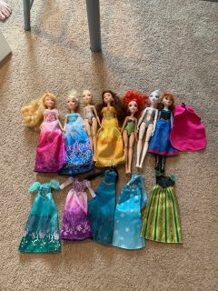 Disney princess barbie doll set
