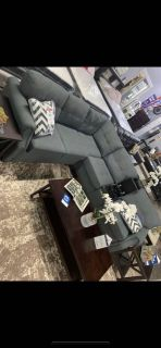 Blue- Grey Sectional Sofa