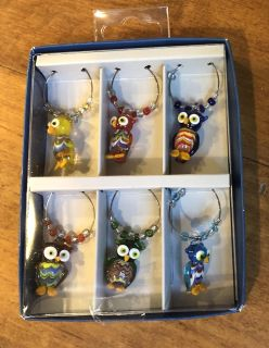 Adorable Owl Drink Charms! New! Pier 1 Imports!