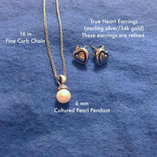 James Avery necklace and earrings