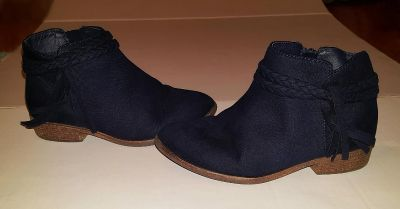 Cat and Jack Blue Zip Up Boots size 13