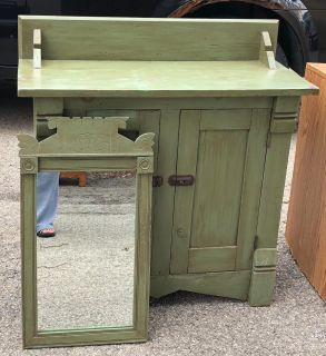Antique Cabinet w/Mirror