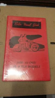 Purchase Rider Hand Book 1958-1964 OHV FL & FLH Models panhead shovelhead knucklehead motorcycle in Santee, California, United States, for US $15.00