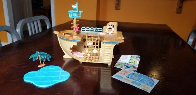 Gently Used Calico Critters Adventure Treasure Ship