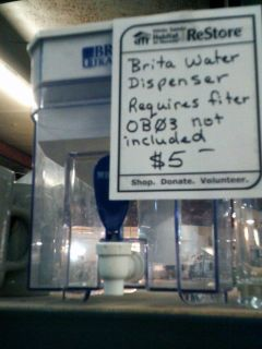 Water filter dispenser