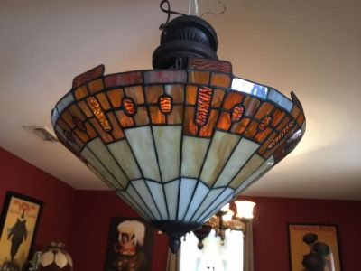 BEAUTIFUL Hanging Stained Glass Hanging Light