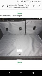 2018 Equinox cargo and seat cover by Canvasback