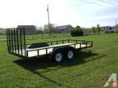 "6'4"" x 16' Tube Iron Utility Trailer"