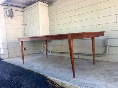 Midcentury Surfboard Dining Table & Leaf