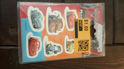 Cars 8 sticker sheets
