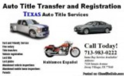 Salvage Title Vehicle Transfers and License Plates
