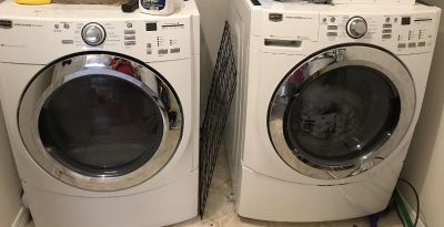 Maytag commercial series front load washer and dryer.