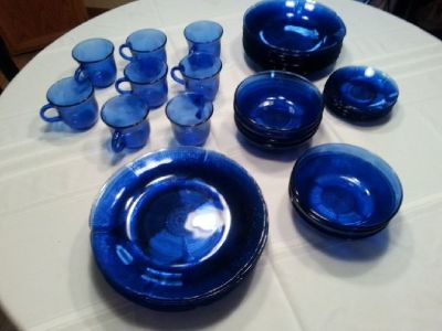 Cobalt Blue dinner ware