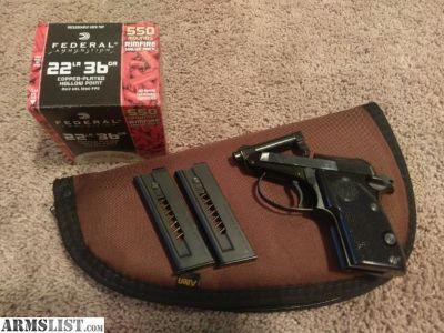 For Sale/Trade: Beretta 21A Bobcat, Tip barrel sub compact .22