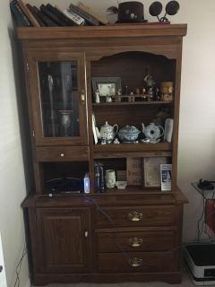 Brown hutch...in good shape!