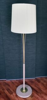 Mid Century Floor Lamp with Fiberglass Diffuser