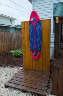 Surfboard Outside Shower