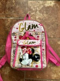 Minnie Mouse backpack and lunch bag