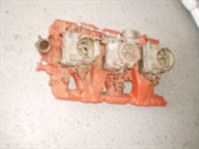 Parts For Sale: 1964 Pontiac tri power intake & carburetors 389 421 tripower 1961 1962 1963 1964 PART NUMBER 9775088 GTO CATALINA GRANDPRIX