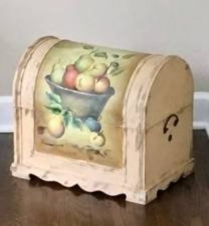 Decorative Painted Wood Chest