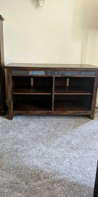 Wood TV Entertainment Stand