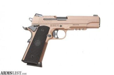For Sale: SIG SAUER 1911 EMPEROR SCORPION .45 ACP FULL SIZE FDE