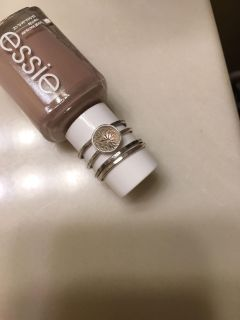 Sterling Silver Stacking Ring Set 4 Size 8.5