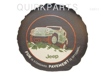 Sell 1996-2013 Jeep Wrangler Tire Cover FUN IS STANDARD Pavement Optional MOPAR OEM motorcycle in Braintree, Massachusetts, US, for US $56.00