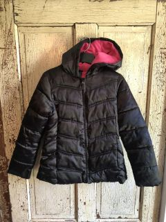 Girls Faded Glory hooded coat, size 10/12