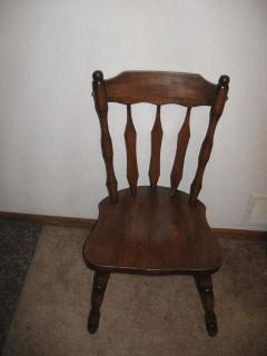 Sturdy wood chair