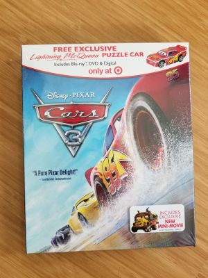 NEW Cars 3 Blu-ray and DVD