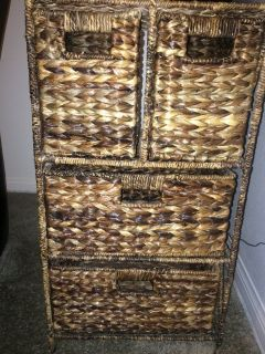 "4 Wicker Drawer like new 41"" x 77"""