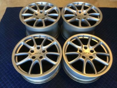 Sell UBER-RARE ORIGINAL GENUINE PORSCHE OEM 2007 997 GT3 WHEEL SET WITH CENTER CAPS! motorcycle in La Jolla, California, United States, for US $3,685.00