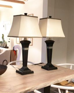 Set of (2) 33 table lamps