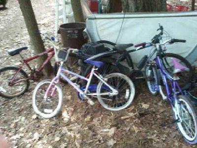 $25 20 inch bmx and kids bikes