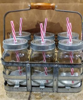 Case of 6 Mason jar cups