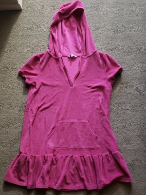 Fuschia Bathing Suit Cover Up Girl Size 14