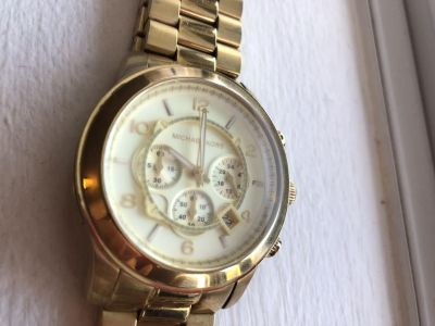 Michael Kors Gold-Tone Oversize Bradshaw Watch