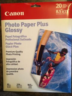8 1/2 x 11 Glossy Photo Paper