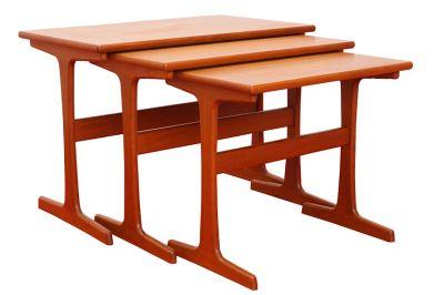 Vintage Kai Kristiansen Solid Teak Nesting Tables